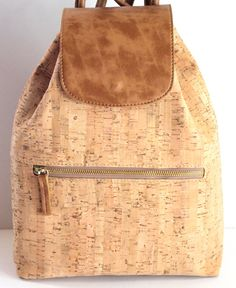 backpack cork bag/backpack woman bag by SunbeamSantorini on Etsy