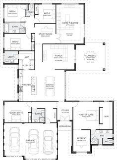 7 Modern House Plans Samples – Modern Home Bedroom House Plans, Dream House Plans, Modern House Plans, House Floor Plans, Home Design Floor Plans, Plan Design, House Blueprints, Sims House, House Layouts