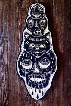Bryn Perrott is an artist based in Morgantown, West Virginia, who makes amazing wood carvings.