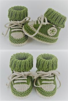 Sweet baby shoes with a sneaker look - knitting instructions via Makerist.de,Sweet baby shoes in sneaker look - knitting instructions via Makerist. Baby Booties Knitting Pattern, Baby Shoes Pattern, Crochet Baby Booties, Baby Knitting Patterns, Knitting Socks, Knitting Designs, Baby Patterns, Free Knitting, Crochet Patterns