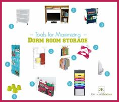 College Prep:  Tools for Maximizing Dorm Room Storage