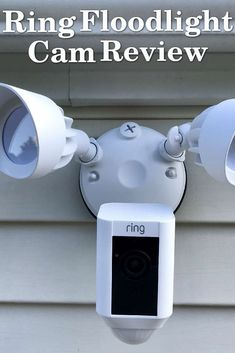 The Ring Floodlight Cam is an outdoor camera that takes things further and gives you the most robust outdoor security camera. It has motion sensors, floodlights, a two-way audio, and a loud siren. Ring Security, Home Security Tips, Security Cameras For Home, Security Alarm, Safety And Security, Security Service, House Security, Wall E, Audio