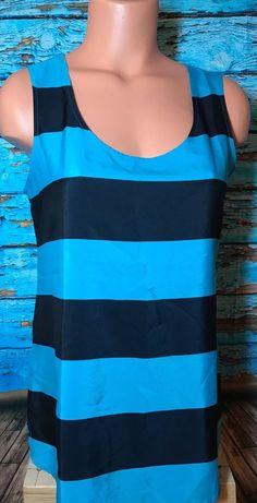 Loft Ann Taylor Women's Blue Striped Blouse Sz S Small Top Shirt  | eBay