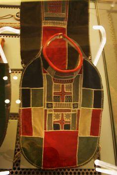 Traditional Sami collars with pewter embroidery. Sweden. Samiske krager med tinntrådsbroderi. Sverige by saamiblog, via Flickr