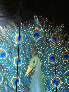 Three panel peacock painting by thisthatandthese on Etsy