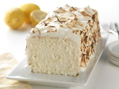 Lemon Meringue Angel Food Cake - A light angel food cake flavored with a twist of lemon.