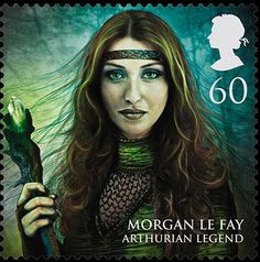 Royal Mail's new stamps from magical realms: Morgan le Fey, 60p.