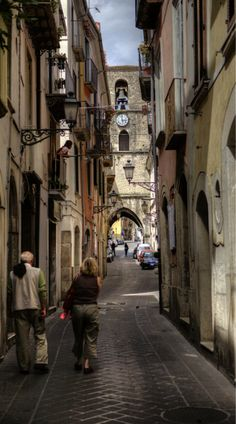 Isernia, Italy--actually the ancient section of Isernia