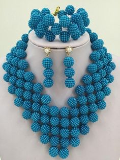 Have An Inquiring Mind New Elegant African Wedding Beads Jewelry Sets Jewelry & Watches