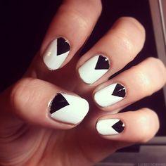Chevron nails using tape #nail #art