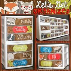 """You are purchasing a set of labels to help you stay organized! This file includes four sets of labels for a teacher toolbox, a """"to do"""" set of drawers, a weekly drawer bin and brand new monthly drawer labels. All are editable using Microsoft PowerPoint. **The """"to do"""" labels, weekly, and monthly labels fit the Sterilite 3 Drawer/"""