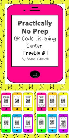 Practically No Prep Listening Center: Freebie #1. QR codes for 12 video read alouds. Safe Share links (no ads!) and FREE FREE FREE! Add to your listening center, like, yesterday.