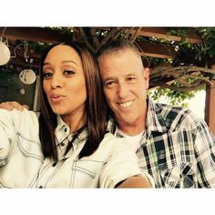 Tia Mowry and her dad.