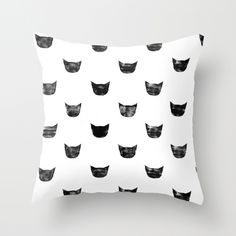 Black Cat by Leah Reena Goren THROW PILLOW / COVER (16 X 16) $20.00