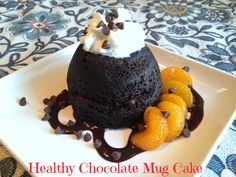 Healthy Chocolate Mug Cake - Quick and easy to make, but, I would add a little more honey or chocolate chips for some sweetness. @allrecipes #MyAllrecipes #AllstarsAllrecipes #AllrecipesFaceless #mugcake