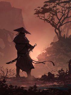 The World Is . by TacoSauceNinja on DeviantArt Japanese Art Samurai, Japanese Warrior, Japanese Artwork, Japanese Tattoo Art, Ninja Wallpaper, Samurai Wallpaper, Arte Ninja, Ninja Art, Dark Fantasy