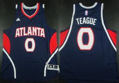 Atlanta Hawks #0 Jeff Teague Revolution 30 Swingman 2014 New Navy Blue Jersey