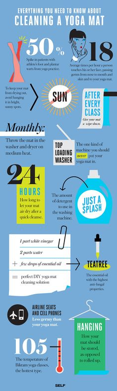 Infographic: How to Clean Your Yoga Mat