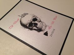 Skull wedding invitations, Skull invitation, original wedding invitations, Rocker invitations, Black invitations, Till death so us part on Etsy, $5.16