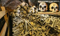 Villagers have long believed the disarticulated skeletons at the Holy Trinity Church in Rothwell, Northamptonshire, were victims of the plague or soldiers from the nearby battle of Naseby.