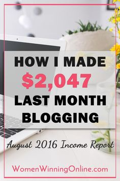 Want to see how I earned $2,047 on my blog in August? Click thru to my blog income report to find out how!