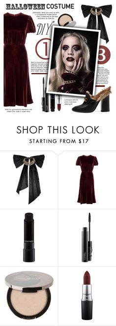 """Halloween  costumes! 👻🎃👻"" by sati199308 ❤ liked on Polyvore featuring Oscar de la Renta, Valentino, MAC Cosmetics, Juice Beauty, Gucci, halloweencostume and DIYHalloween"