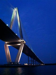 One of the most unique views of the Arthur Ravenel Bridge that you will ever see!