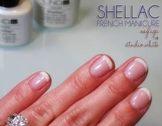 French Manicure with CND Shellac - Colors Negligee and Studio White - Photo - Swatch Shellac French Manicure, Pink Shellac, Cnd Shellac Colors, Shellac Nails, Nail Colors, French Pedicure, French Manicures, Matte Nails, Nail Polish