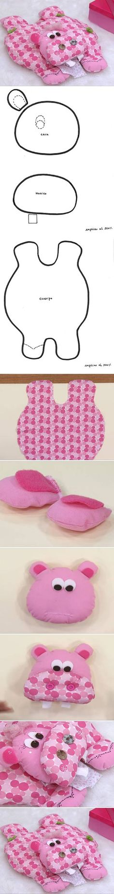 DIY Hippo Pillow diy sew crafts diy crafts sewing kids crafts how to tutorial sewing tutorials sewing crafts crafts for kids Baby Crafts, Felt Crafts, Fabric Crafts, Sewing Crafts, Sewing Projects, Diy Projects, Animal Projects, Kids Crafts, Sewing Pillows