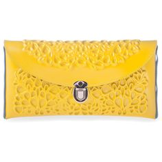 MeDusa Clutch - Yellow (€110) ❤ liked on Polyvore featuring bags, handbags, clutches, purses, yellow, borse, yellow hand bags, yellow handbags, man bag and hand bags