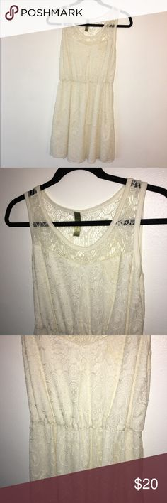 Lace day dress from Francesca's Off white lace dress!! Francesca's Collections Dresses Mini
