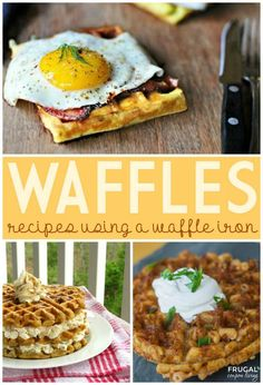 Waffle Iron Ideas - Recipes on Frugal Coupon Living including Potato Dill Waffles, Carrot Cake Waffles, and Beer Mac & Cheese Waffles.