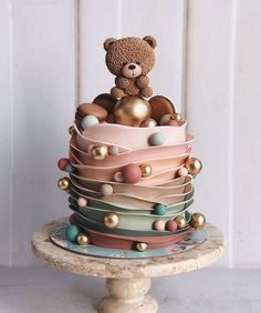 Birthday cakes are one of the most important things of interest in any birthday celebration. A birthday party with no tasty birthday cake will not mak. cake Gorgeous Ideas Cute, Chic and Simple Birthday Cakes Baby Cakes, Baby Shower Cakes, Gateau Baby Shower, Baby Birthday Cakes, Cupcake Cakes, Birthday Cake Designs, Teddy Bear Birthday Cake, Bithday Cake, Birthday Cake Decorating