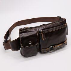 विंटेज असली गाय चमड़ा आरामदायक यात्रा बैग पुरुषों के कमर बेल्ट बैग फैनी क्रॉसबॉडी कंधे बैग पैक मोबाइल फोन के लिए Fanny Pack, Belt, Accessories, Fashion, Hip Bag, Belts, Moda, Fashion Styles, Waist Pouch