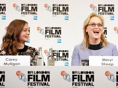 Actresses Carey Mulligan and Meryl Streep attend the 'Suffragette' press conference during the BFI London Film Festival on October 7, 2015 in London, England.   John Phillips, Getty Images for BFI