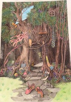 All finished :3                                           #drawing #art #colouringtherapy #woodland #fantasy