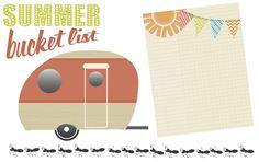 Summer Bucket List Digital Embellishment Freebies from Creative Memories - Click to Download