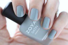 Zoya Naturel Satins Tove Swatch -  Medium Misty Blue Slate Cream Nail Polish for Spring 2015