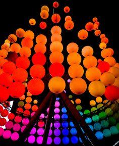 lights...love light art installation