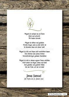 Druck/Print: Segenswunsch/Vers für Kinder - Baum