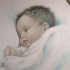 bessie pease gutmann | Bessie Pease Gutmann Lithograph -- Baby Asleep