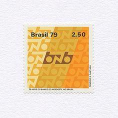 25 Years of Bank of North Eastern Brazil (2,50). Brazil, 1979. Design: Romildo B. Santana. #mnh #graphilately