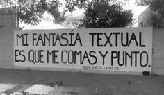 Mi fantasía textual, I love this one! Tu Me Manques, More Than Words, Some Words, Wall Quotes, Me Quotes, Funny Quotes, Little Bit, Love Life, My Love