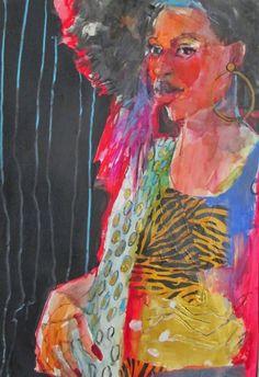 Irreverent Art, Liz Hill: A couple Woman Painting, Figure Painting, Figure Drawing, Portrait Art, Portraits, Feminine Mystique, Watercolor And Ink, Watercolor Ideas, Contemporary Artwork