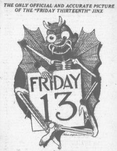 """frankensteinsfunhouse:  The only official and accurate picture of the """"Friday Thirteenth"""" Jinxvia hauntedohiobook"""
