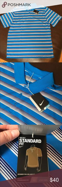 NWT Nike men's dri-fit golf shirt New with tags. Nike men's golf shirt. Dri-fit. Size large. Retail: $65. Marked down to lowest price. Price firm. Thanks for looking! Nike Shirts Polos
