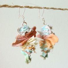 fabric earrings diy