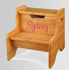 Personalized Stepping Stool for in the bathroom for Chloey maybe?