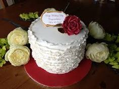 Image result for cakes for a ruby wedding anniversary