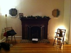 Fireplace: Garland for Christmas time by TheEmptyHouseStudio, via Flickr